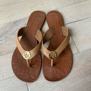 Tory Burch Tan Thora Sandals